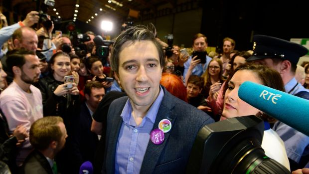 Minister for Health Simon Harris said this was an extraordinary day for Ireland and for women from across the country. Photograph: Cyril Byrne/The Irish Times
