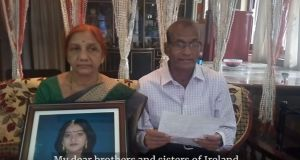 In a video Mr Yalagi said no family should have to endure the pain and suffering they had has since Ms Halappanavar died