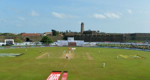 A general view Galle International Cricket Stadium on  the fourth day of the first Test match between Sri Lanka and India in July, 2017. Photograph:  Ishara S Kodikara/AFP/Getty Images