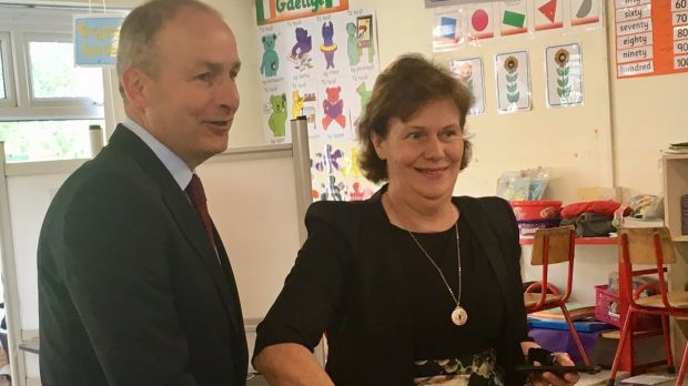 Micheál Martin and wife Mary voting in Cork.