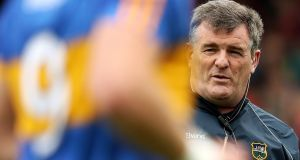 Tipperary manager Liam Kearns will hope his team can book their place in the Munster final this weekend. Photograph: Tommy Dickson/Inpho