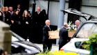 Mark Hennessy body leaves O'Donavan's funeral home in Sallynoggin, Dublin. Photograph: Pádraig O'Reilly