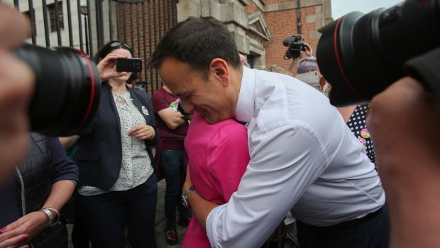 Taoiseach Leo Varadkar Minister for Children Katherine Zappone at Dublin Castle. Photograph: Gareth Chaney Collins