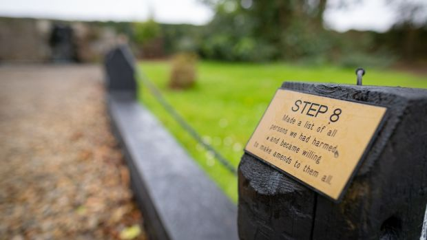 One of the 12 steps in the gardens at the Aiséirí centre in Cahir, Co Tipperary. Photograph: Dylan Vaughan