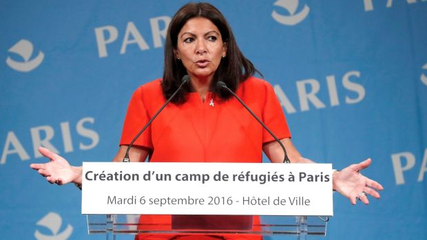 The mayor of Paris Anne Hidalgo wants the government to provide shelter for the migrants. Photograph: Francois Guillot/AFP/Getty Images