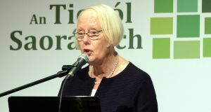Ms Justice Mary Laffoy, chairwoman, at the Citizens' Assembly in Malahide, Co Dublin. Photograph: Eric Luke / The Irish Times