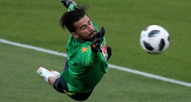 2db0a1cc486 Brazil goalkeeper Alisson Becker is on Liverpool s radar. Photograph   Reuters