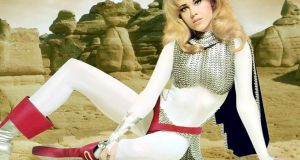 Jane Fonda in a promotional portrait for 'Barbarella', directed by her then-husband Roger Vadim. Photograph: Silver Screen Collection/Getty Images