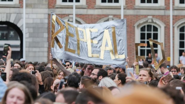 Yes Campaigners during the abortion referendum count at Dublin Castle. 'Real change won't come from powering forward in self-congratulation.' Photograph: Gareth Chaney, Collins