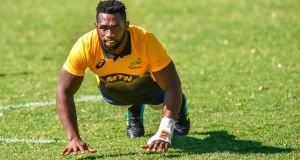 South African flanker Siya Kolisi will become the country's first black Test captain against England in June. Photograph: Getty Images