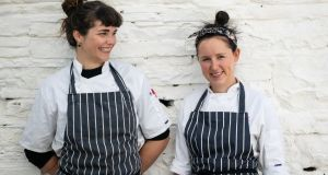 Brianna Turner (left) and Ashley Gribben who will be responsible for the food at the newly launched Pot Duggan's  in Ennistymon, Co Clare. Photograph: Alison Derham