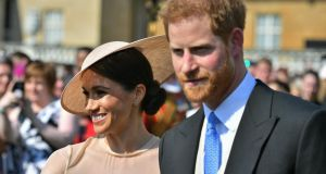 Meghan, Duchess of Sussex, with Prince Harry: Markle's choice to marry is, with luck, a source of great personal joy. But it is not progressive. Photograph: Dominic Lipinski/Pool/Getty