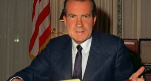 President Richard Nixon, a firm advocate for greater environmental protections, was 57 when he signed the US Clean Air Act into law in December 1970. Photograph: AP Photo