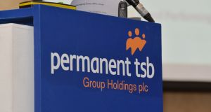 Home lender Permanent TSB tumbled 7.29 per cent to €1.73 on very light trading. Photograph: Alan Betson