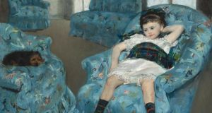 Mary Cassatt: critics have compared her Little Girl in a Blue Armchair to Balthus's controversial Thérèse Dreaming. Photograph courtesy of National Gallery of Art, Washington, DC