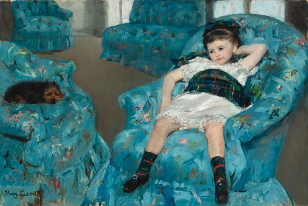 Mary Cassatt: Little Girl in a Blue Armchair (1878). Courtesy of National Gallery of Art, Washington, DC