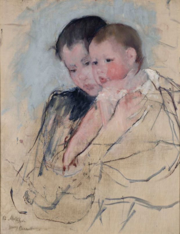 Mary Cassatt: Baby on Mother's Arm (1890-1). Courtesy of Pennsylvania Academy of the Fine Arts