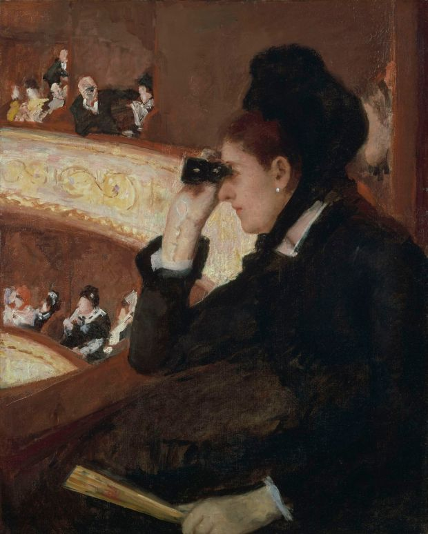 Mary Cassatt: In the Loge (1877-8). Courtesy of Boston Museum of Fine Arts