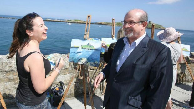 Dalkey Book Festival: Salman Rushdie at Coliemore Harbour in 2014. Photograph: Conor McCabe