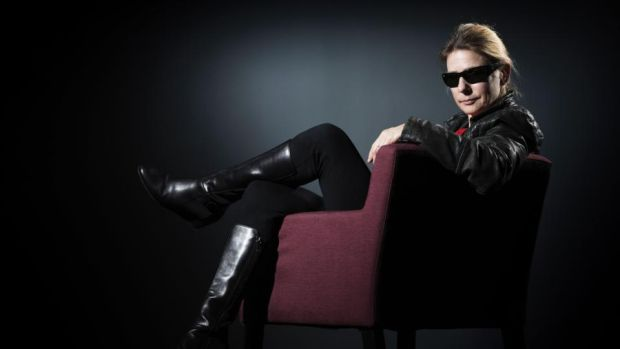 Lionel Shriver. 'She wears her Ray-Bans throughout the interview, peering over the top when she's particularly interested in my questions.' Photograph: Joel Saget/AFP/Getty