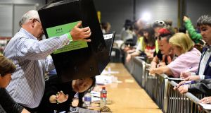 Ballot boxes being emptied in Irish abortion referendum: The Supreme Court decided in effect that the People have an absolute power to make any laws they may please, even radically unjust and discriminatory laws. Photograph: Clodagh Kilcoyne
