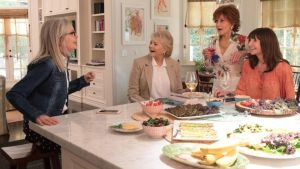 Diane Keaton, Candice Bergen, Jane Fonda and Mary Steenburgen in 'Book Club'. For some reason.