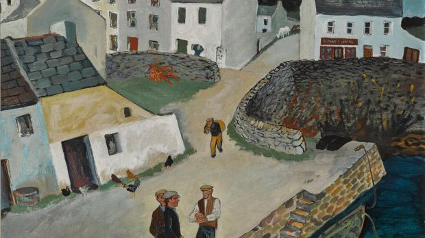 Gerard Dillon, The Lobster Pots, Roundstone