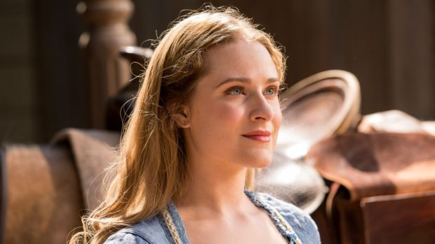Westworld's beautiful android Dolores, a character that exists only to be raped, killed, and resurrected and subjected to this fate time and time again