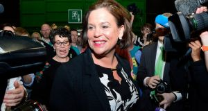 "There is a strong implication in the New York Times's piece that Mary Lou McDonald's being ""5 foot 4"" is some kind of policy position, rather than a mere height.   Photograph: Cyril Byrne"