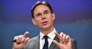 European commission vice-president Jyrki Katainen: With cohesion/regional and agriculture funding amounting to over 70 per cent of the EU budget, both programmes will bear brunt of Brexit cutbacks. Photograph: John Thys/AFP/Getty