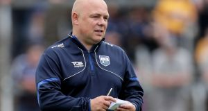 Derek McGrath: the Waterford manager is faced with an unprecedented list of casualties and absentees. Photograph: Laszlo Geczo/Inpho
