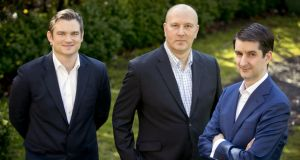 Co-founders of Cullaun Capital:  head of portfolio management Noel Ross; chief executive Stephen Bell;  and head of origination Daire McCarthy. Photograph: Chris Bellew