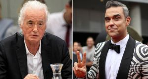 Jimmy Page v Robbie Williams: the Kensington neighbours have clashed over Williams's building work. Photograph: Getty