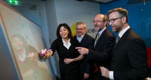 From left: Yvonne Holmes, head of customer analytics and engagement systems, AIB; Bernard Byrne, chief executive, AIB; Professor Brian MacCraith, president, DCU; Professor Tomas Ward, AIB chair in data analytics, DCU. Photograph: Shane O'Neill/SON Photographic