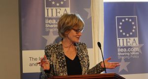 MEP Mady Delvaux warned that the rest of the world would not wait to be led by Europe on robotics and AI. Photograph: Niall Matthews/IIEA