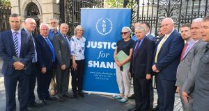 Numerous politicians turned out to back calls for an inquiry into the circumstances leading up to the death of cyclist Shane O'Farrell in August, 2011. Photograph: Mark Hilliard / The Irish Times