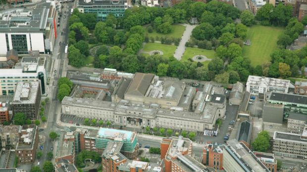 Aerial view, NCH. Photograph: Peter Barrow