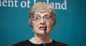 "Minister for Children and Youth affairs Dr Katherine Zappone: told the Seanad that alternatives proposed by Senators  had been ruled unconstitutional by the Attorney General's office and if the Seanad could not accept that ""the Bill falls"".  Photograph:  Gareth Chaney/Collins"