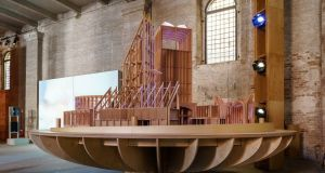 Exquisitely crafted timber models and installations, such as those by London-based Alison Brooks and Dublin-born Niall McLaughlin (an example pictured above), are among the most memorable at this year's Biennale.