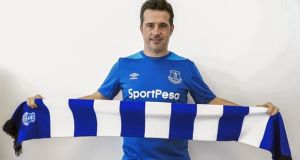 Marco Silva is unveiled as the new Everton manager. Photograph: Everton FC/Everton FC via Getty Images