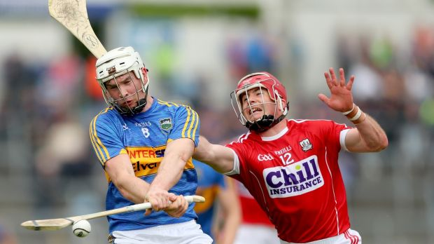 Brendan Maher: his switch to wing-back at the interval helped improve Tipperary and he turned over two balls early in the second half to signal their fresh intent. Photograph: James Crombie/Inpho