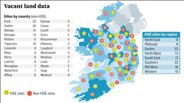 Government controls vast swathe of vacant sites as housing crisis