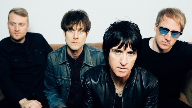 "Johnny Marr and his band: ""I guess if I was gonna join another band – and I didn't join The The – I probably won't join anybody. But I will be open to collaborations again in a couple of years, I think"""