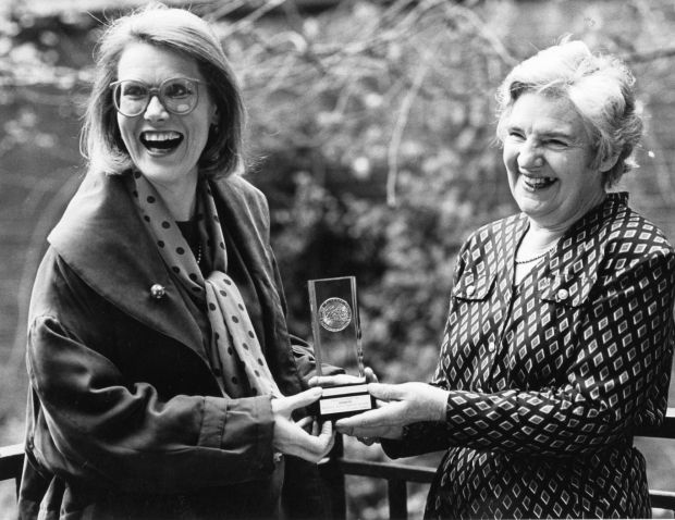 Double Gold: Darina and Myrtle Allen, who shared the 1991 Gilbcy's Gold Medal Award for catering excellence in 1991. Photograph: Frank Miller