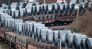 The US plans to impose levies on steel and aluminium imports from the European Union, Canada and Mexico. Photograph: Lukas Schulze/Getty Images