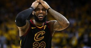 LeBron James is only player other than Michael Jordan to score more than 50 points in a finals game since 1970. Photograph: Getty Images