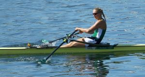 Ireland's Sanita Puspure dominated her heat of the single sculls in Belgrade. Photograph: Jeremy Lee-Pool/Getty Images