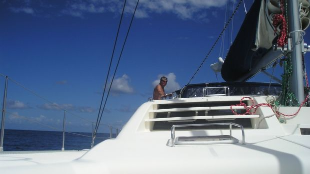 Eamon Guilfoyle at the helm in Hawaii