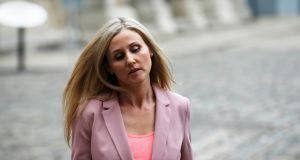 Journalist Alison O'Reilly arriving at the Charleton Tribunal in Dublin Castle. Photograph: Stephen Collins/Collins Photos