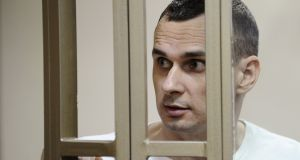 Ukrainian film director Oleg Sentsov   is being held in an isolation cell in a remote prison in Arctic Siberia. Photograph: Reuters/Sergey Pivovarov